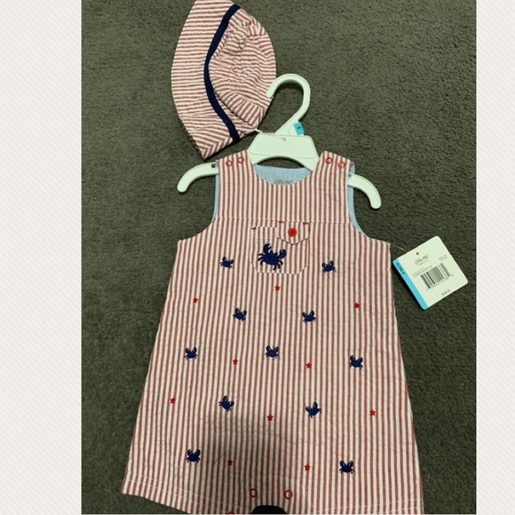 Little Me Baby Boys Stars Sunsuit